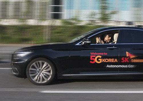 SKTの自律走行車、通勤途中の京釜高速道路での走行に成功