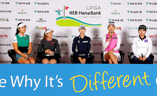 世界1、2位の韓国勢がホームで激突、LPGA・KEBハナ銀行選手権