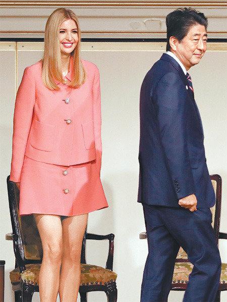 首脳に接するように…イヴァンカ氏を手厚くもてなした安倍首相