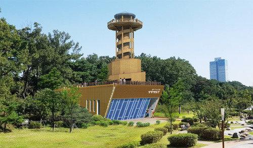 光教湖公園が一目で…水原市、来年上半期まで展望台と生態学習館を建設