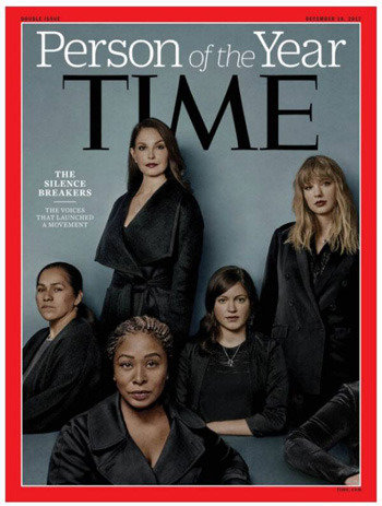 タイム、「今年の人物」に性的暴行を暴露した「沈黙を破った人たち」を選定