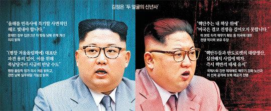 韓国に手を差し出した金正恩氏、米国には拳を上げる