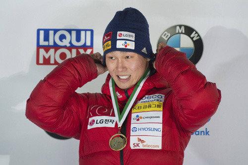 今季4勝目のスケルトン代表のユン・ソンビン、平昌五輪金目指し世界1位を断念