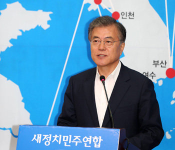 文在寅代表、「経済統一」唱え対北制裁解除を主張