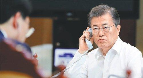 """김정은 """"괌 견제 전주곡""""... 문대통령 """"극한의 압력"""""""
