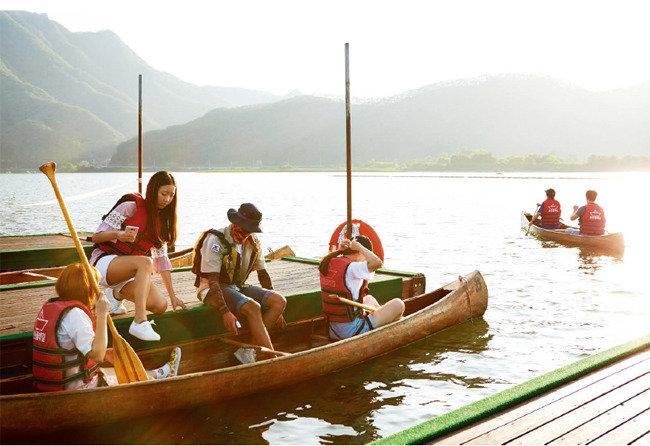 평온의 호수, 낭만의 카누