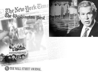 리버럴 '뉴욕타임스', 중도 '워싱턴 포스트', 강경 '월스트리트 저널'