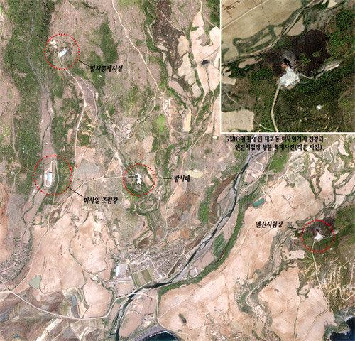 위성사진으로 분석한 2004년 5월 중순 대포동 미사일기지