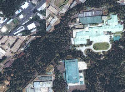 美 위성이 촬영한 평양 아미산 일대