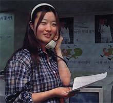 총선시민연대의 젊은 자원봉사자 이미경