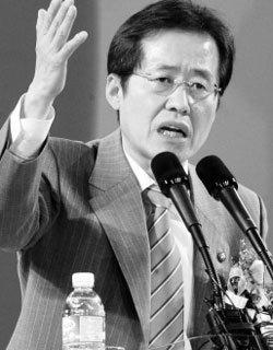 자칭 '비주류 의리파' 홍준표