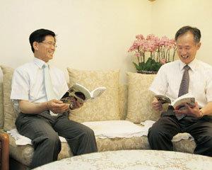 안병직 뉴라이트재단 이사장 & 김문수 경기도지사