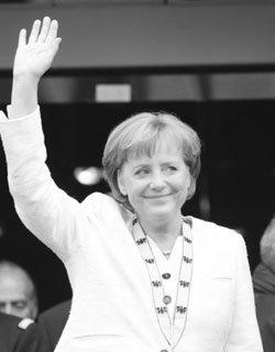 군소 정당에서 전단지 돌렸던 앙겔라 메르켈