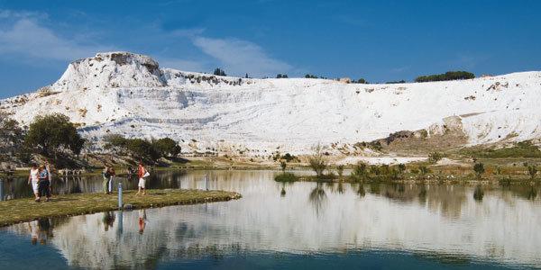 터키 파묵칼레, 히에라폴리스 하얀 산, 뜨거운 물