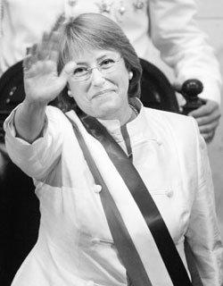 미첼 바첼레트 칠레 최초 여성 대통령