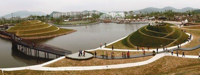 순천만에  펼쳐진 '지구의  정원'