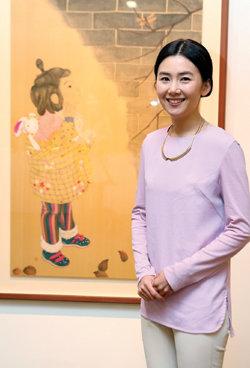 '심리치유 그림' 화제 배우 출신 화가 김현정