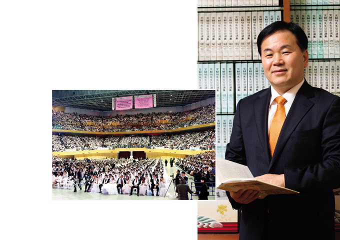 국제 합동결혼식 주관한 세계평화통일가정연합 유경석 한국회장