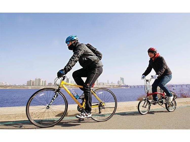 한강공원의 무법자 자전거 폭주족