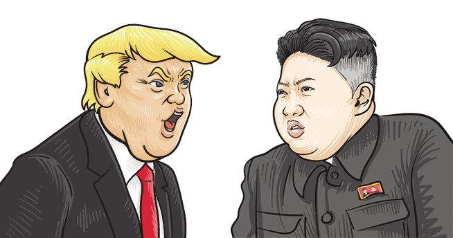 트럼프는 지배자, 김정은은 겁쟁이