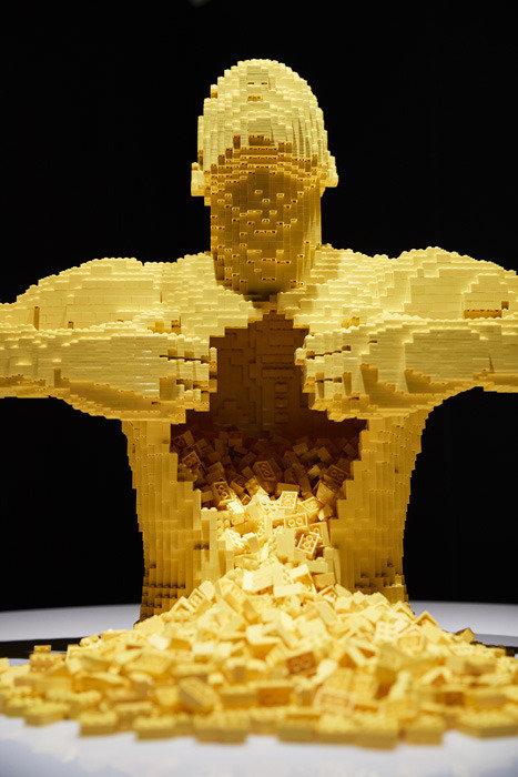 레고 브릭 4573개로 탄생한 '모나리자'