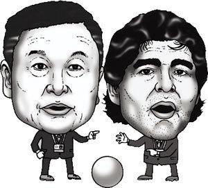 두 사내 '축구 전쟁'은 계속된다