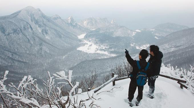 눈과 바람이 쓱쓱 황홀하구나, '雪景 산수화'