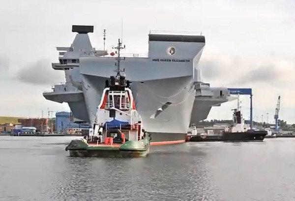 영국 최대 항공모함 '퀸엘리자베스'호, 20km밖 당구공도 식별?