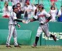 [포토] 손주인 '드디어 첫 홈런!'