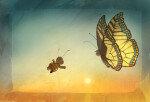 [그림책 한조각]봄멜의 첫 비행