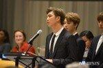 """방탄소년단, UN 연설 """"젊은이여, 나를 사랑한다 당당하게 얘기하자"""""""