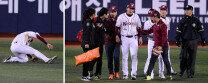 '3점포·만루포' 유한준, 부상에 병원행… '괜찮나?'