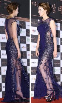 '백상예술대상' 유인영, 고혹적인 시스루 드레스