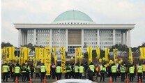 박근혜 대통령 탄핵소추안 표결일, 국회의사당 현장