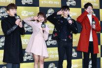 흥이 넘치는 Mnet '골든탬버린' 제작발표회