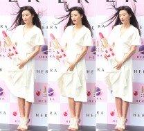 전지현, 머리가 날려도 빛나는 여신