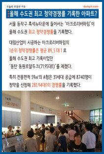 [오늘의 부동산 이슈]올해 수도권 최고 청약경쟁률 기록한 아파트?