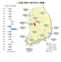 전국 아파트 전셋값 1년째 '뚝뚝'…사상 최장기간 하락 지속