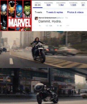 """마블, '어벤져스2' 예고편 유출에 정식 예고편 공개 """"Dammit, Hydra"""""""