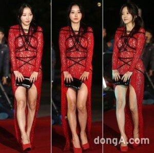 '대종상영화제' 한세아, 아찔한 시스루 드레스 위 밧줄 꽁꽁 '눈길'