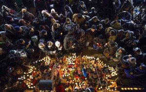 [화보] 숨진 뉴욕경관 추모하는 시민들