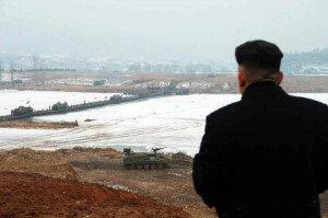 北 김정은, 동계 도하공격훈련 참관
