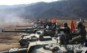 [화보] 육군 1기갑여단, K1A1전차포 사격 훈련
