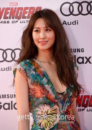 [화보] 수현, '어벤져스2' 월드 프리미어 행사 참석…'동양미 물씬'