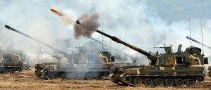 [화보] 강원 철원서 k-9· K-55 사격훈련…'힘차게 발사'