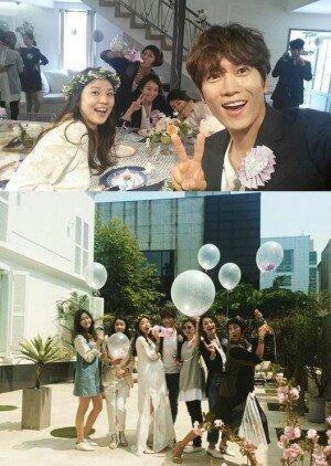 '베이비 샤워 파티' 지성 이보영 부부, 만삭에도 '빛나는 미모'