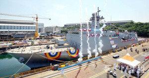 [화보] 해군, 3천톤급 기뢰부설함 남포함 진수식