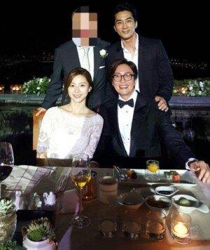 송승헌, 배용준·박수진 결혼식 참석 인증샷 공개 '훈훈'