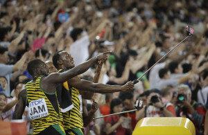 [화보] 볼트, 400m 계주 우승… 대회 3관왕 달성