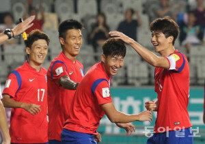[화보] 슈틸리케호, 월드컵축구 亞 2차예선 라오스에 8-0 대승…손흥민 '해트트릭'